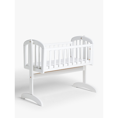 John Lewis Anna Swinging Crib, White