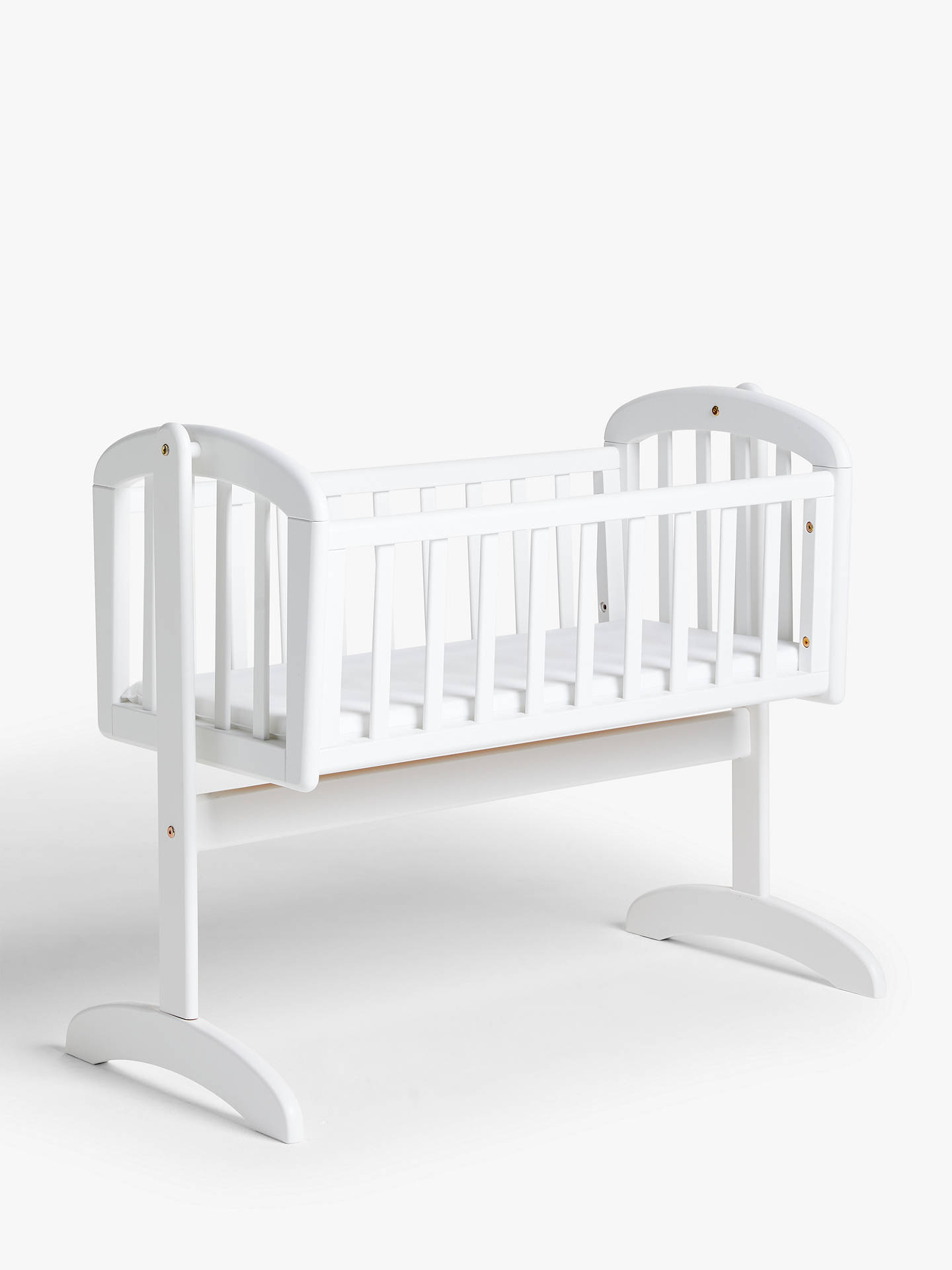 John Lewis Baby Boy Bedroom: John Lewis & Partners Anna Swinging Crib, White At John