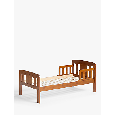 John Lewis & Partners Boris Toddler Bed, Antique Darkwood