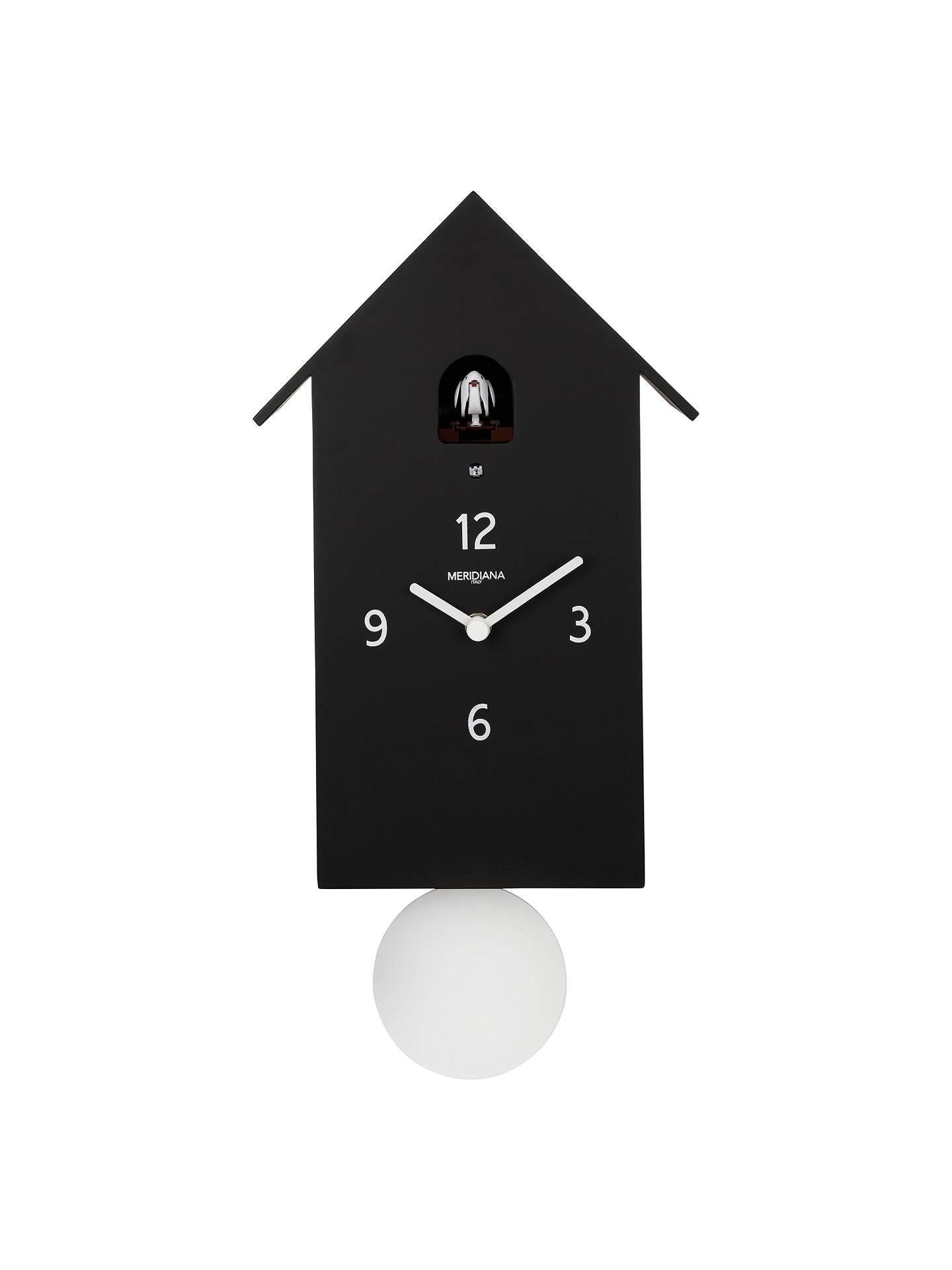 Diamantini Domeniconi Meridiana Cuckoo Clock H30 X W14 5 D10cm Black