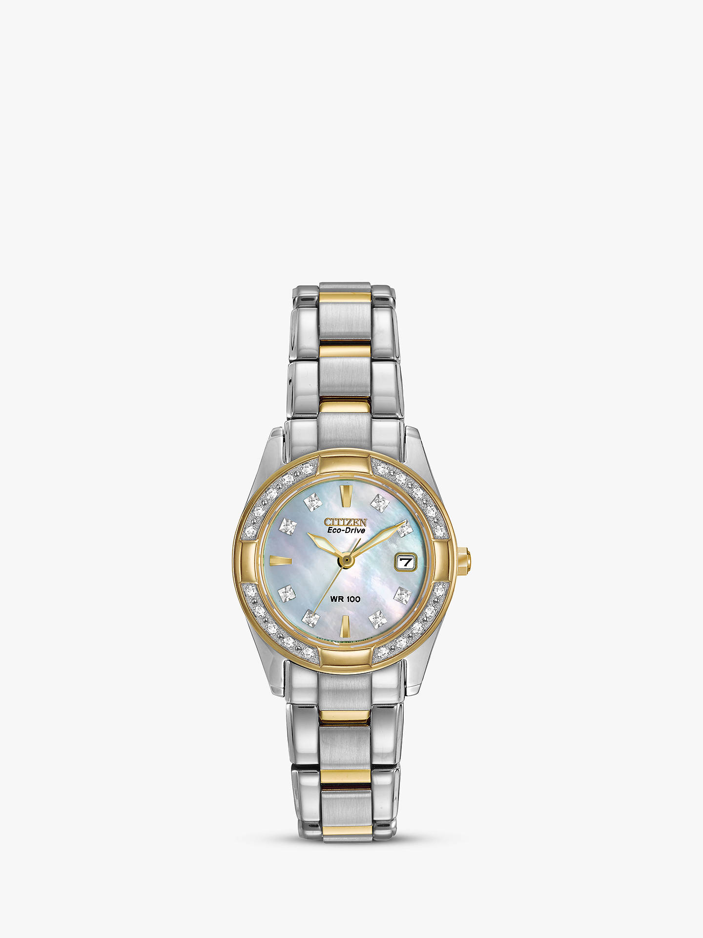 BuyCitizen EW1824-57D Women s Eco-Drive Regent Two Tone Diamond Bracelet  Strap Watch 5626461c44