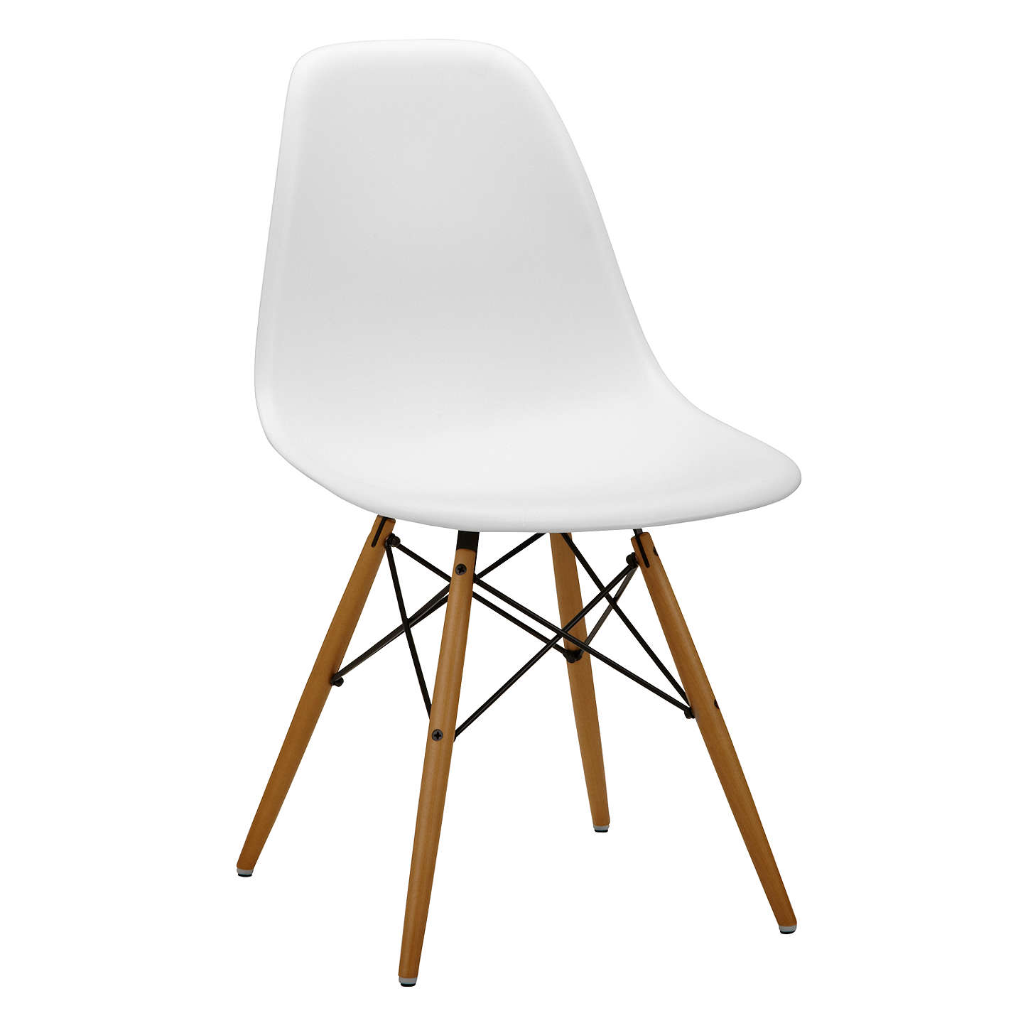 Vitra eames dsw 43cm side chair at john lewis for Vitra eames plastic armchair replica