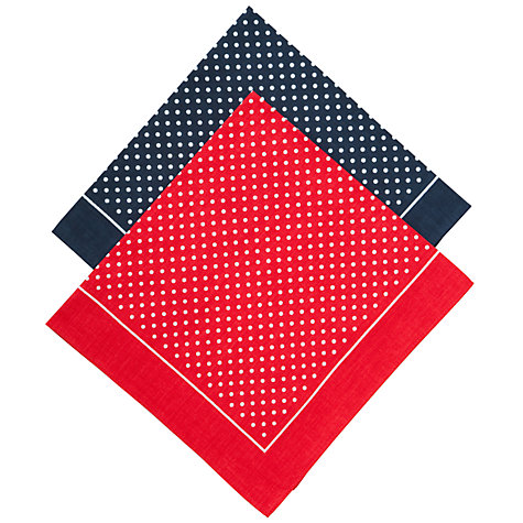 Buy John Lewis Supersize Spot Handkerchiefs, Navy/Red Online at johnlewis.com