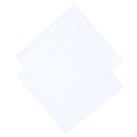 Buy John Lewis Supersize Handkerchiefs, Pack of 2, White Online at johnlewis.com