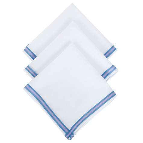 Buy John Lewis Semi Plain Handkerchiefs, Pack of 3, White Online at johnlewis.com