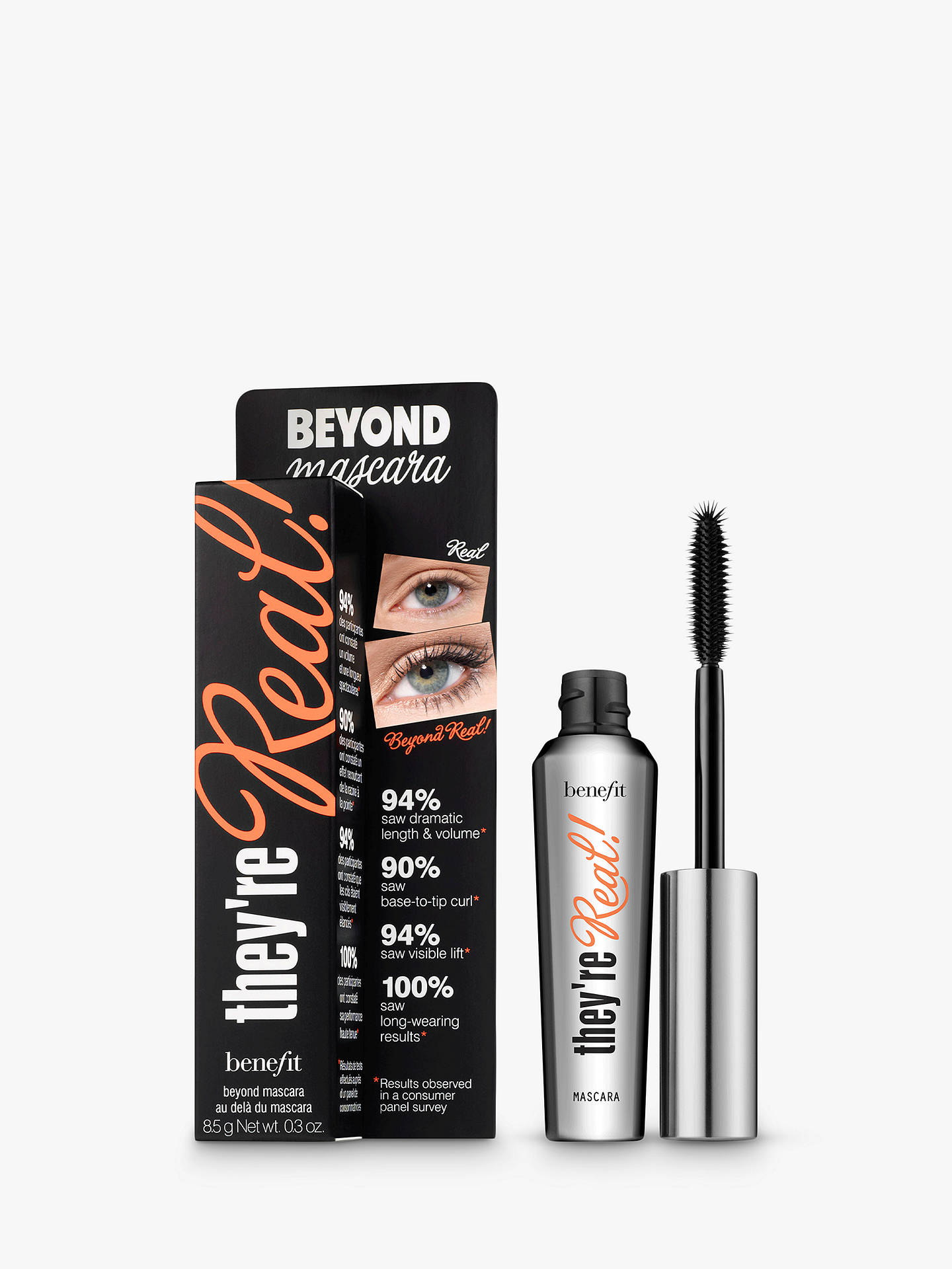 Buy Benefit They're Real! Mascara, Black Online at johnlewis.com