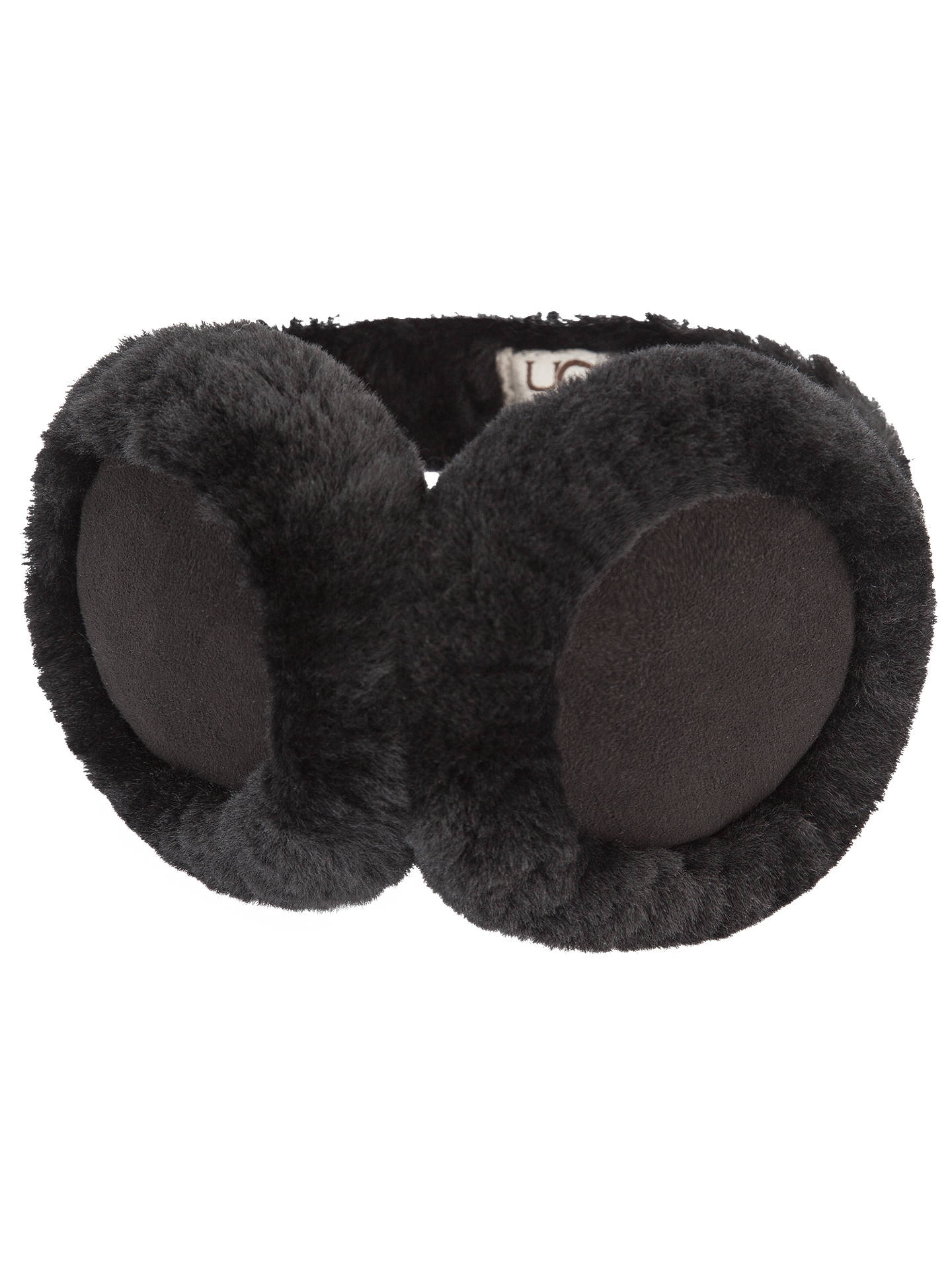 926cb27c669 UGG Logo Earmuffs, Black at John Lewis & Partners
