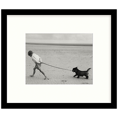 Getty Images Gallery Walking The Dog Framed Print, 56 x 67cm