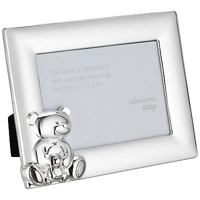 John Lewis Silver Plated Teddy Frame, 13 x 9.5cm