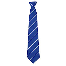 Buy St Augustine's High School Clip On Tie, Royal Blue/White Stripe Online at johnlewis.com