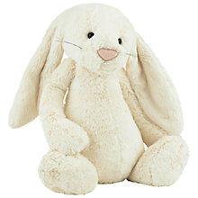 Buy Jellycat Huge Bashful Bunny Soft Toy, Cream Online at johnlewis.com