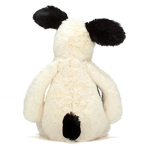 Buy Jellycat Bashful Puppy Soft Toy, Medium, Black/White Online at johnlewis.com