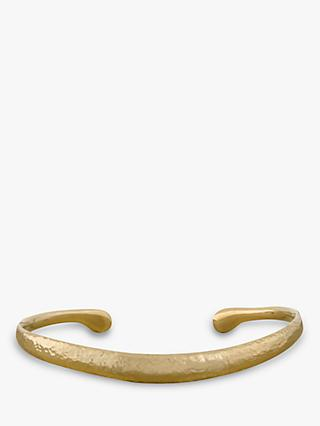 Dower & Hall Nomad 18ct Gold Vermeil Curved Torc Bangle