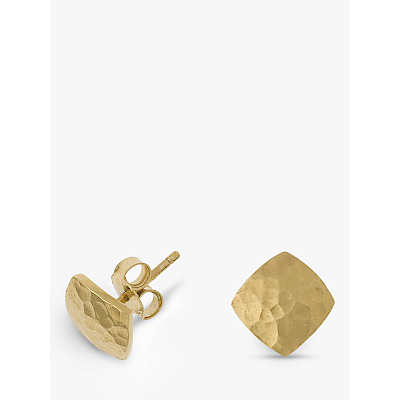 Product photo of Dower hall 18ct vermeil flat square stud earrings