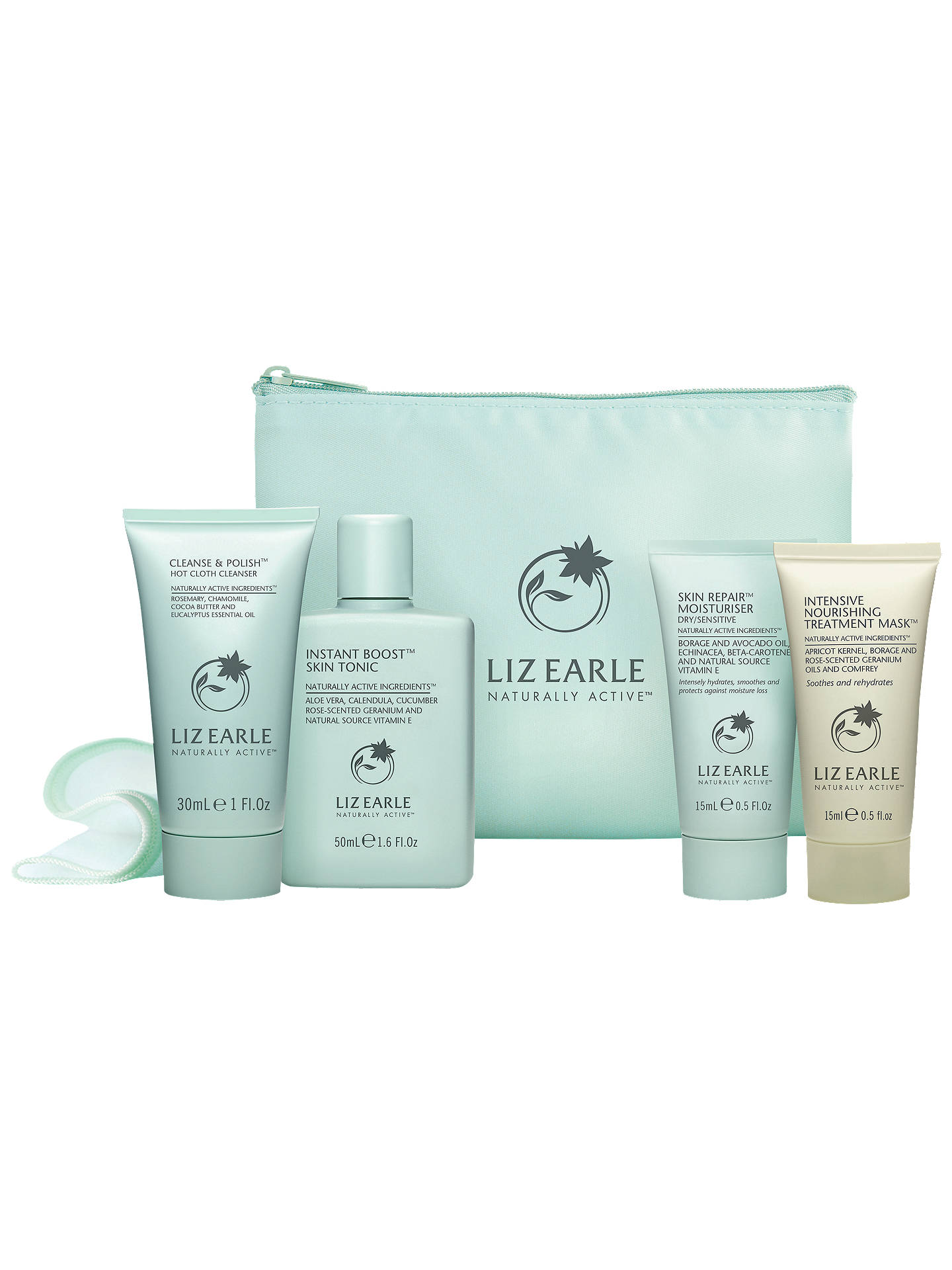 BuyLiz Earle Skincare Try-Me Kit with Nourishing Treatment Mask, Dry/Sensitive Skin Types Online at johnlewis.com