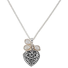 Buy Martick You Are My Pearl Secret Locket Pendant Necklace, Silver/White Online at johnlewis.com