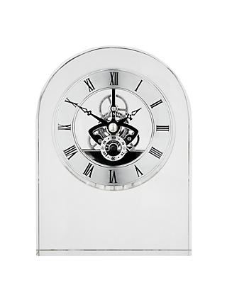 Dartington Crystal Curve Clock, Clear