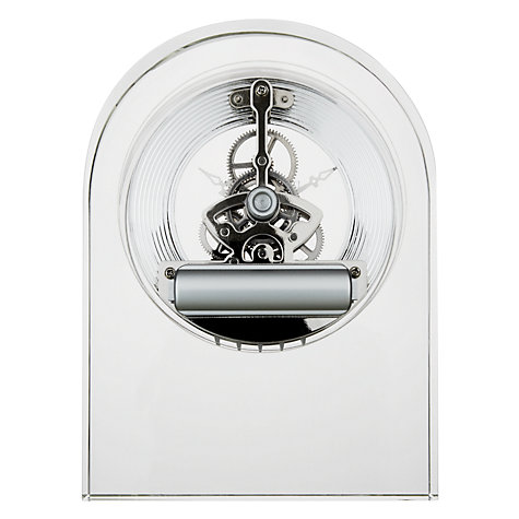 Buy Dartington Crystal Curve Clock, Clear Online at johnlewis.com