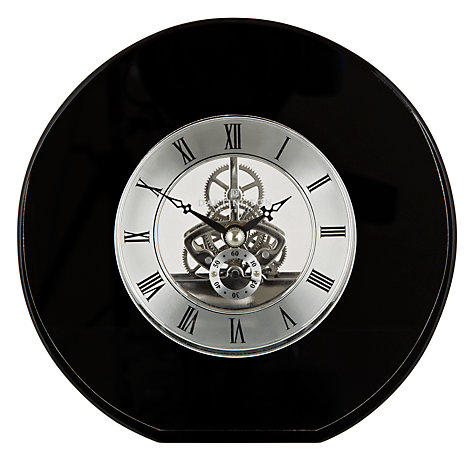 Buy Dartington Crystal Round Mantel Clock, Dia. 15cm, Black Online at johnlewis.com