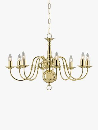 Chandelier lighting ceiling lighting john lewis partners impex bruges chandelier polished brass 8 light aloadofball Image collections