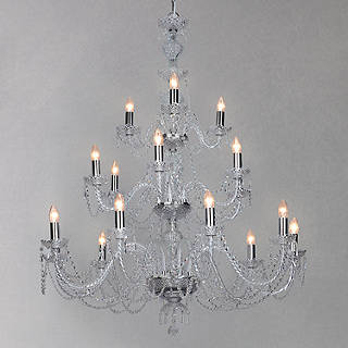 Ceiling lighting furniture lights john lewis impex odette chandelier chrome 18 light mozeypictures Gallery