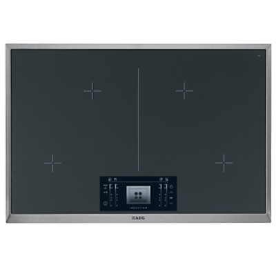 AEG HK884400XG Induction Hob Stainless Steel  Black