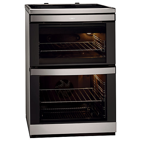 Buy AEG 49002VMN Electric Cooker, Stainless Steel Online at johnlewis.com