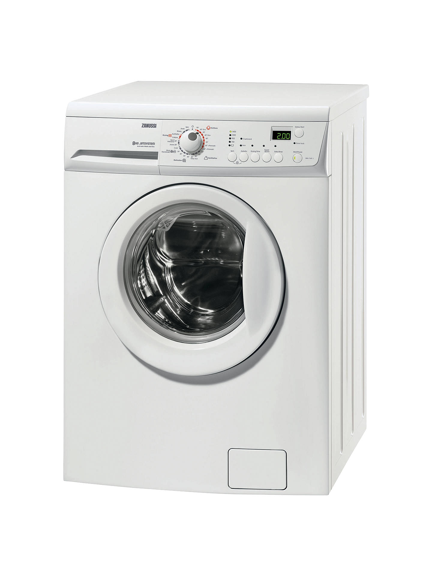 zanussi zkn7147j washer dryer 8kg wash 6kg dry load a energy rh johnlewis com electrolux zanussi washing machine instruction manual In-House Dryer and Washing Machine