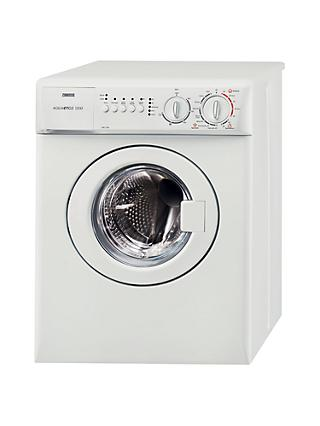 Zanussi ZWC1301W Compact Freestanding Washing Machine, 3kg Load, A Energy Rating, 1300rpm Spin, White