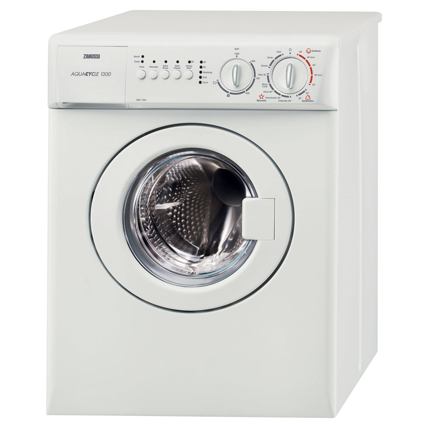 Zanussi Zanussi ZWC1301W Compact Freestanding Washing Machine, 3kg Load, A Energy Rating, 1300rpm Spin, White