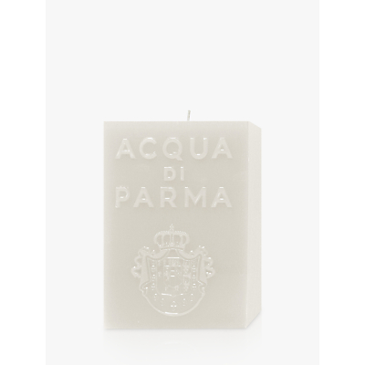 Acqua di Parma Large White Cube Candle – Cloves, 1000g
