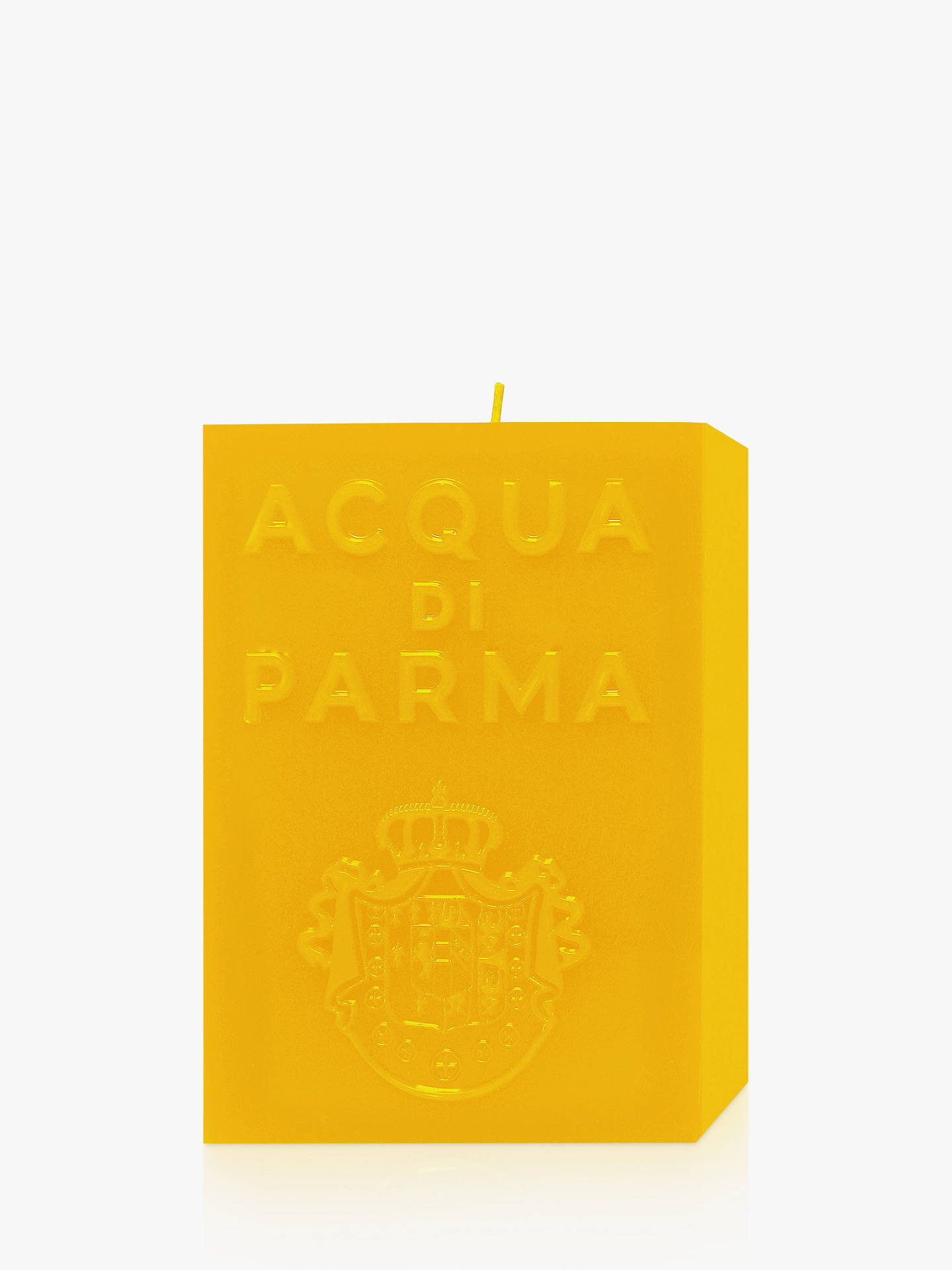 Buy Acqua di Parma Large Yellow Cube Scented Candle - Colonia, 1000g Online at johnlewis.com