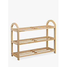 Buy John Lewis Rubberwood Shoe Rack, 3 Tier Online at johnlewis.com