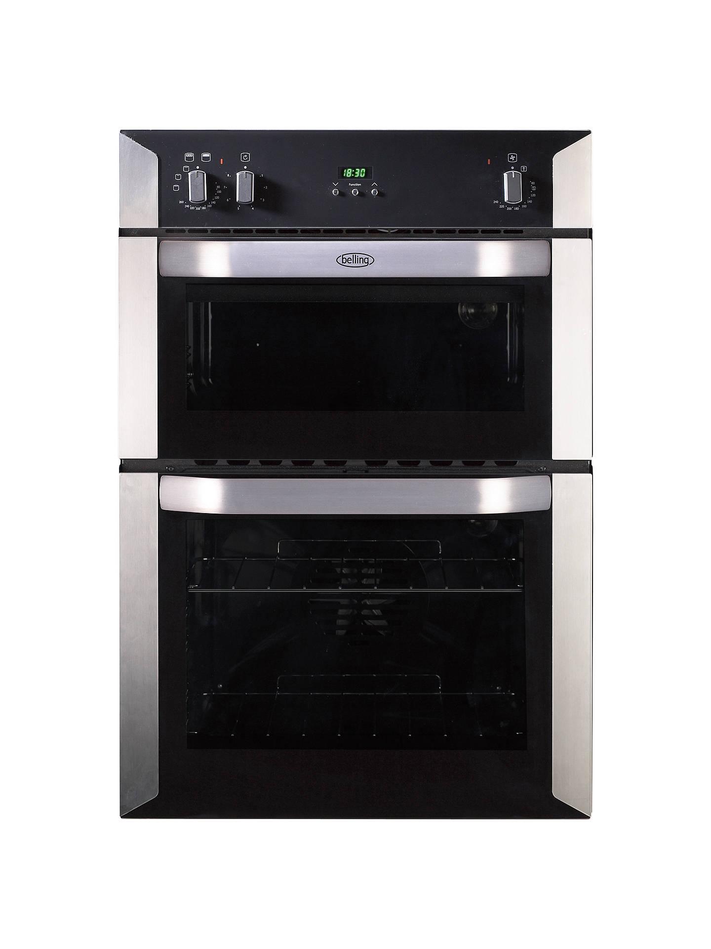 belling bi90fp integrated electric double oven b energy. Black Bedroom Furniture Sets. Home Design Ideas