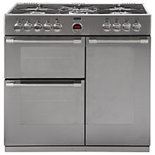 Buy Stoves Sterling 900DFT Dual Fuel Range Cooker, Stainless Steel Online at johnlewis.com