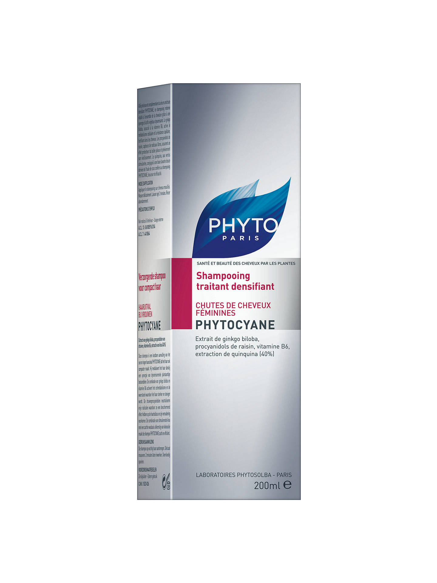BuyPhyto Phytocyane Densifying Treatment Shampoo for Thinning Hair, 200ml Online at johnlewis.com