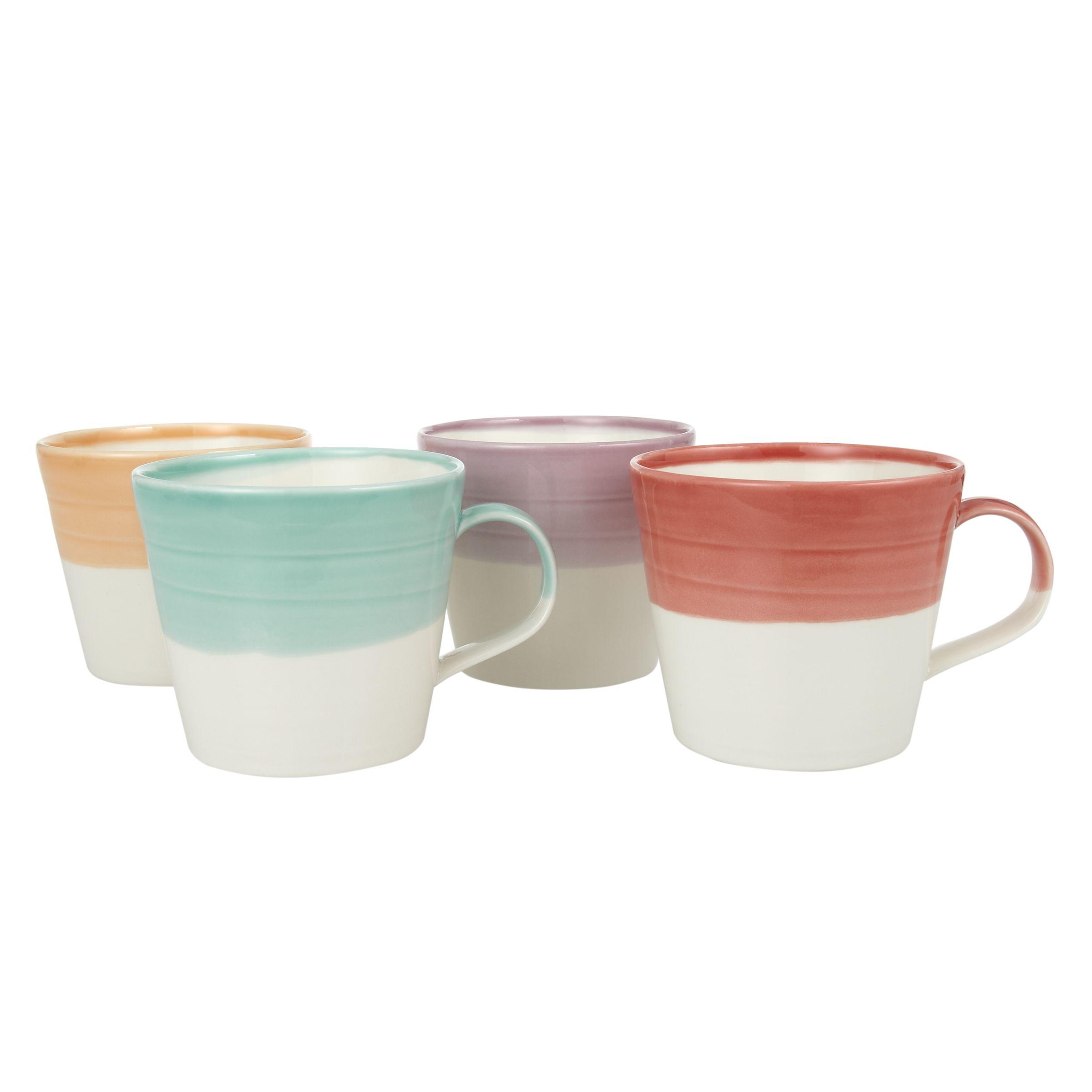 Royal Doulton Royal Doulton 1815 Tapas Mugs, Assorted Brights, Set of 4