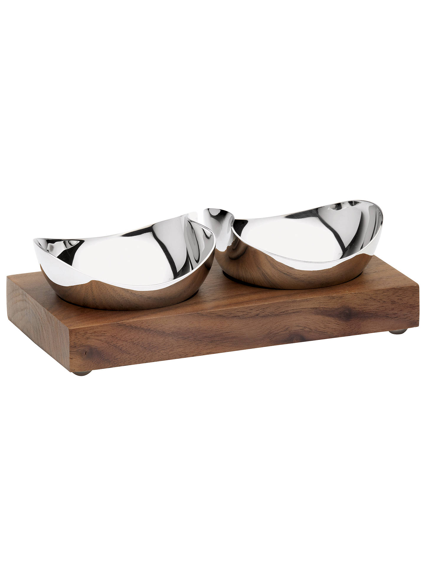 Buy Robert Welch Drift Pinch Pot Bowls with Walnut Stand, Set of 2 Online at johnlewis.com