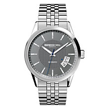 Buy Raymond Weil 2770- ST-20021 Men's Freelancer Stainless Steel Bracelet Strap Watch, Silver/Grey Online at johnlewis.com