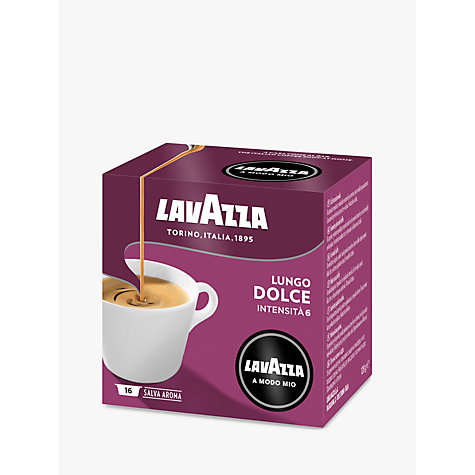 Buy Lavazza Dolce A Modo Mio Lungo Capsules, Pack of 16 Online at johnlewis.com