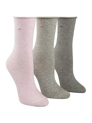 1d121656e2f Calvin Klein Roll Top Crew Socks