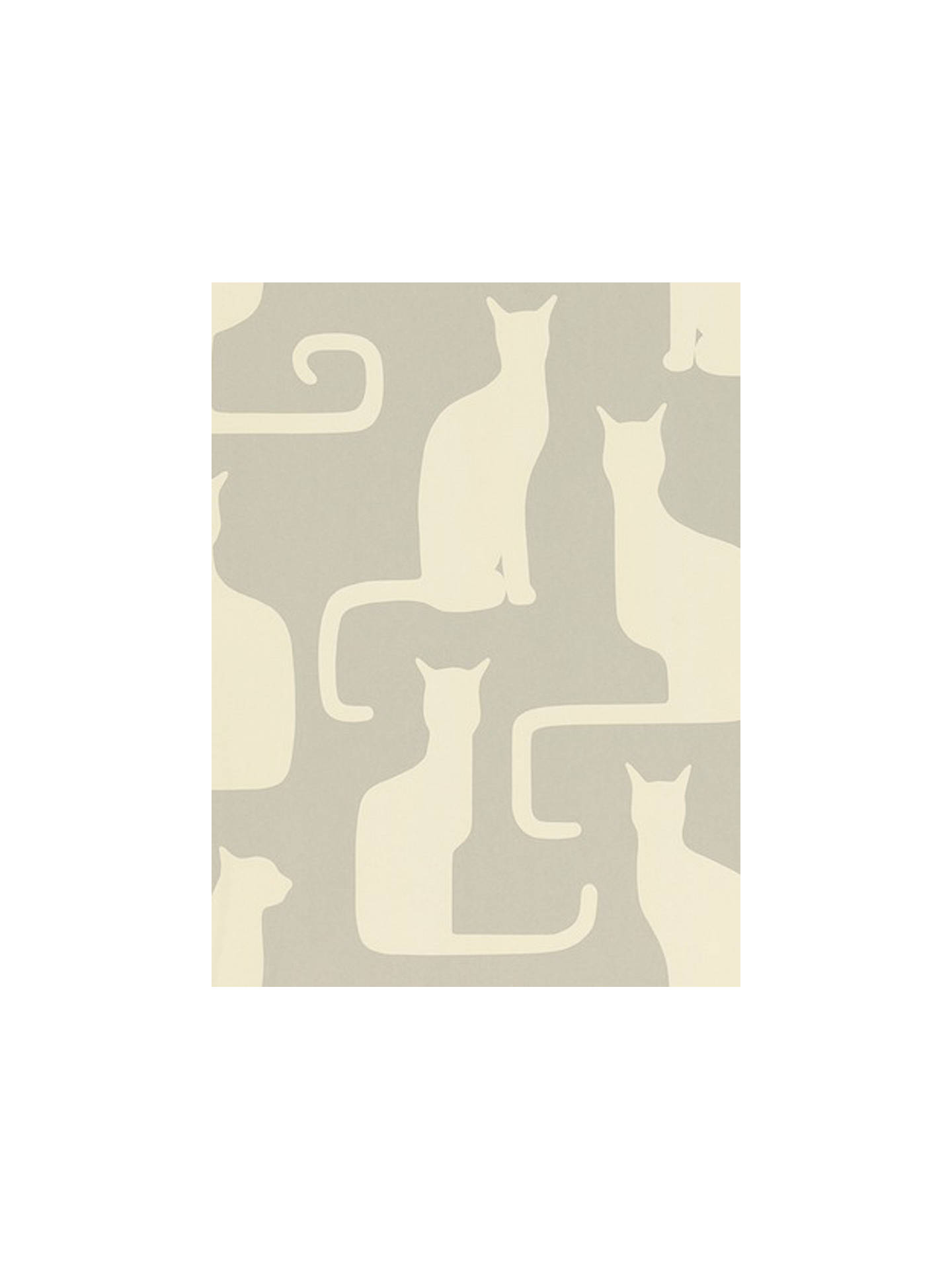 BuySanderson Omega Cats Wallpaper, Grey / Ivory, 211066 Online at johnlewis.com