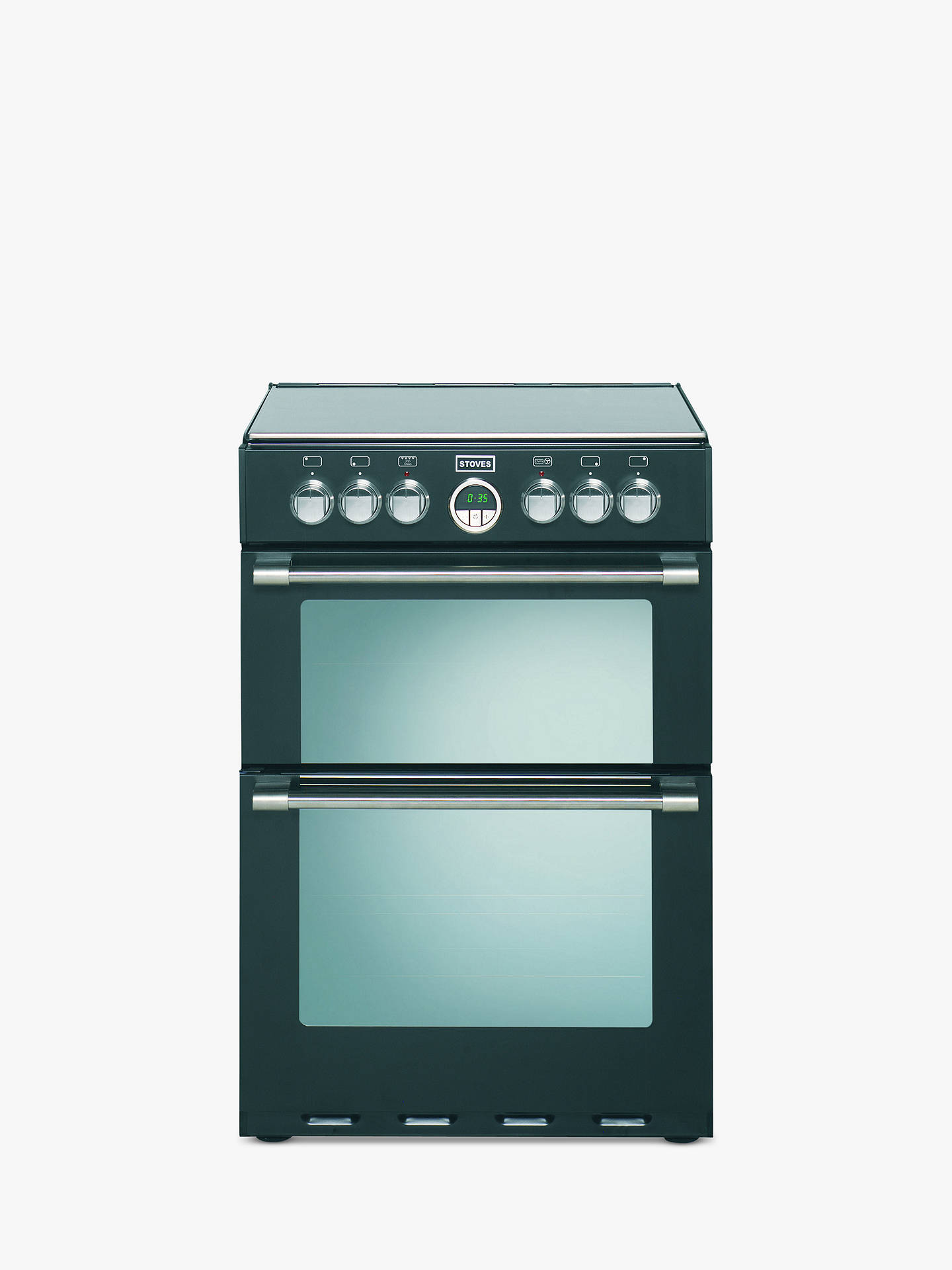 Stoves Sterling 600E Electric Cooker, Black at John Lewis & Partners