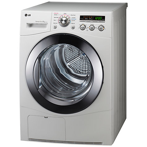 Buy LG RC8015A Condenser Tumble Dryer, 8kg Load, B Energy Rating, White Online at johnlewis.com