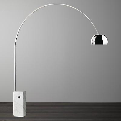 Flos Arco Floor Lamp, Silver