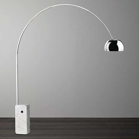 Buy Flos Arco Floor Lamp Silver John Lewis