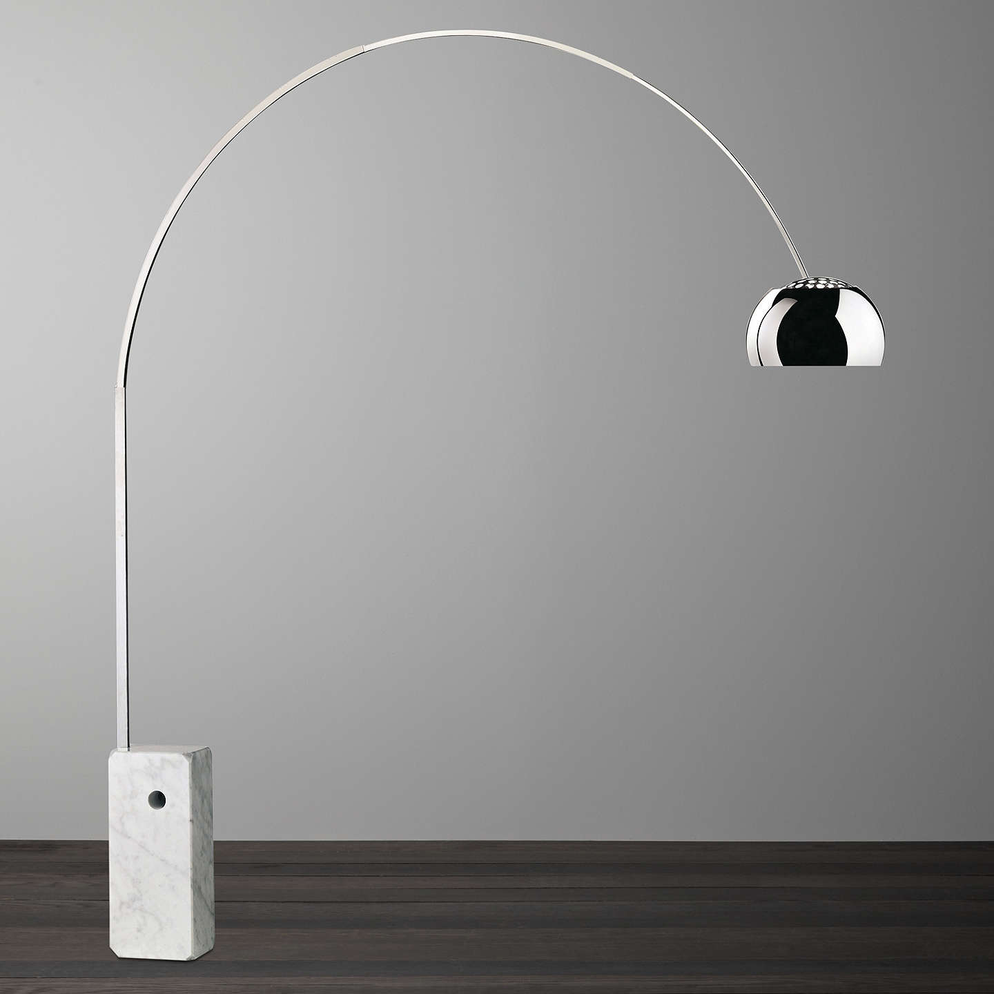 Flos Arco Floor Lamp Silver At John Lewis