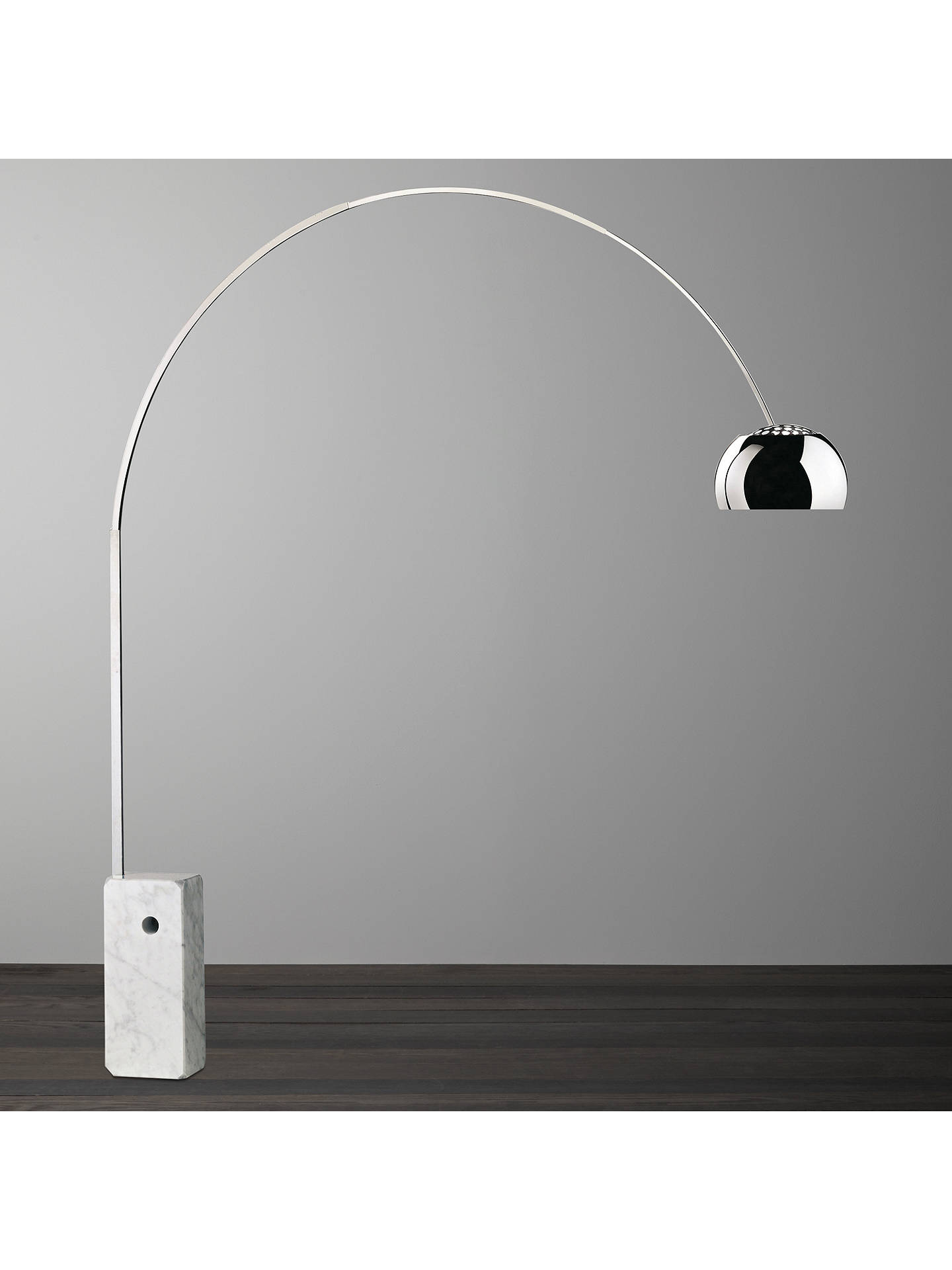 Flos Arco Floor Lamp Silver At John Lewis Amp Partners