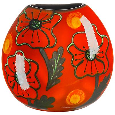 Poole Pottery Poppyfield Purse Vase, H20cm