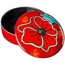 Buy Poole Pottery Poppyfield Trinket Box, Dia.14cm Online at johnlewis.com